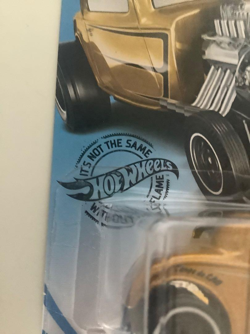 Hot wheels gold 1932 ford hot rod squad collectible diecast car
