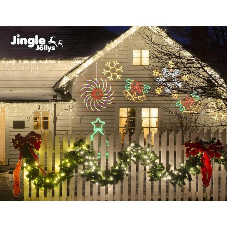 Jingle Jollys Christmas Lights Motif LED Spinner Light