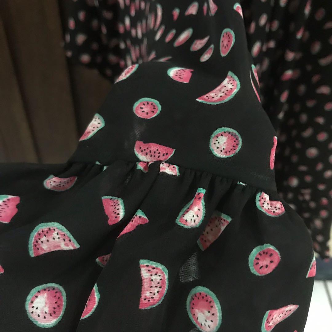 Kimono hitam motif