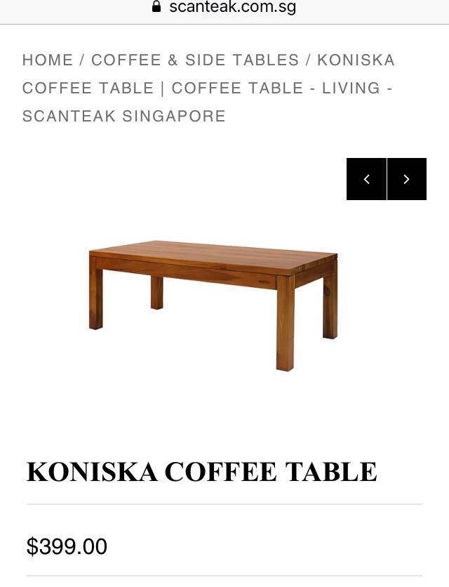 Koniska Coffee Table Scanteak Furniture Tables Chairs On