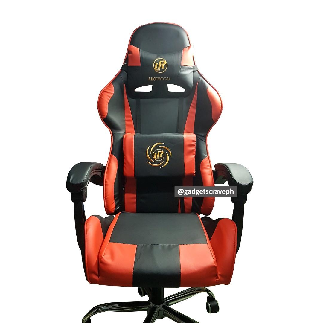 Likeregal Computer Gaming Chair Wtih Back Massage Pillow And Head Rest Pillow Home Furniture Furniture Fixtures Office Furniture On Carousell