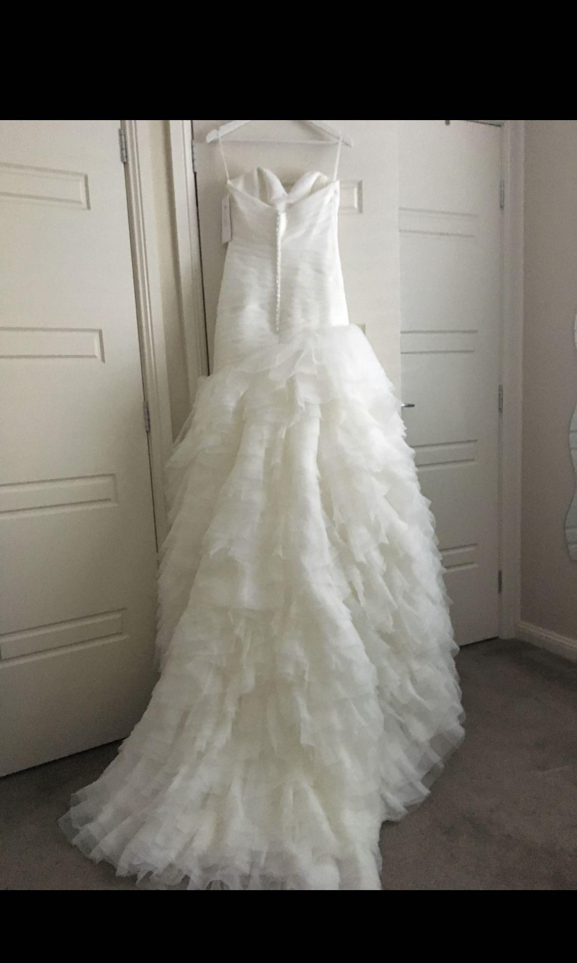 Mori Lee Madeline Gardner Bridal Ruffled Organza Wedding Dress size 8