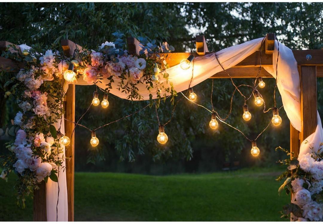 save off 3031e 0776b Outdoor Garden String Lights, 25ft G40 OxyLED Garden Patio ...