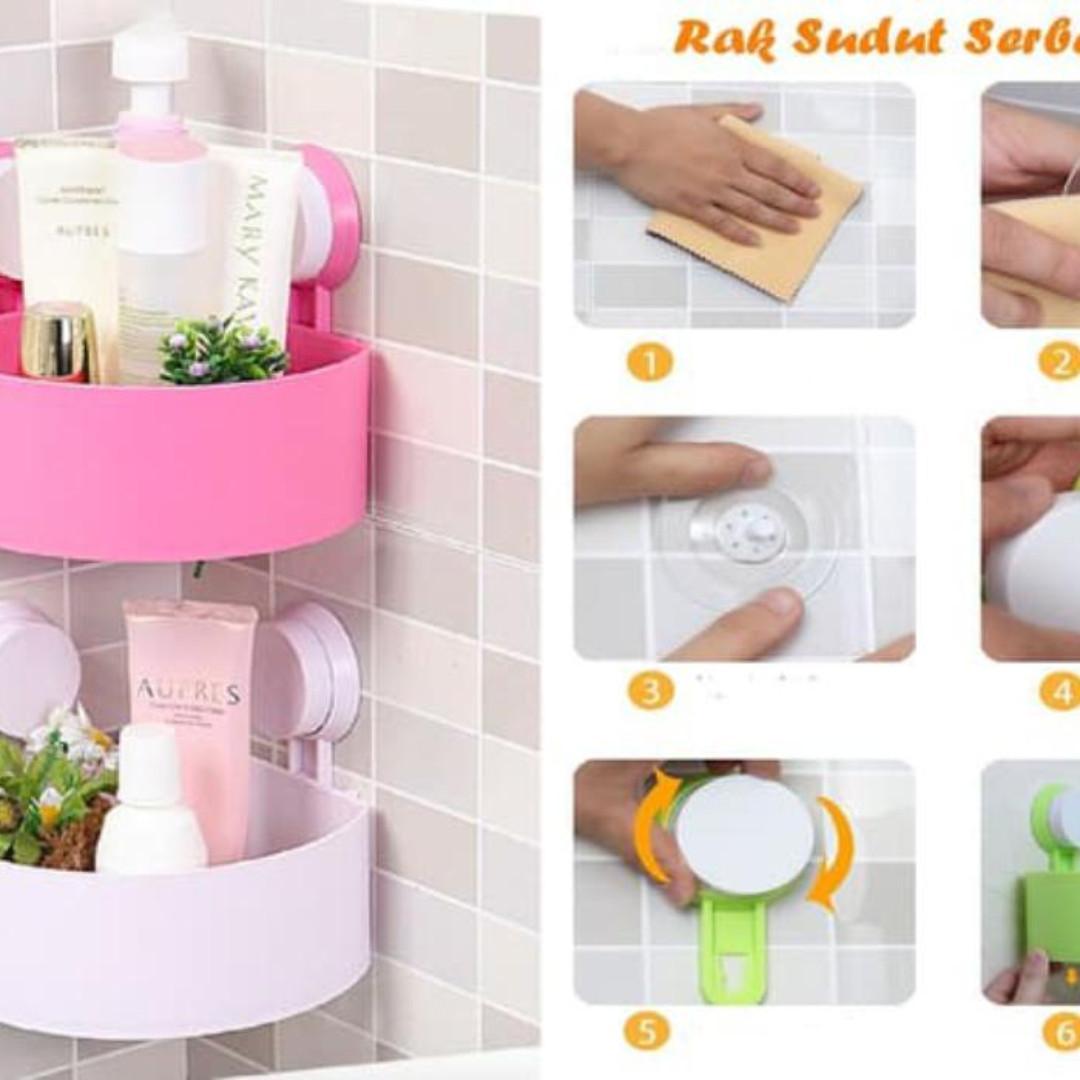 rak sudut serba guna /rak dapur / rak kamar mandi / rak sudut plastik