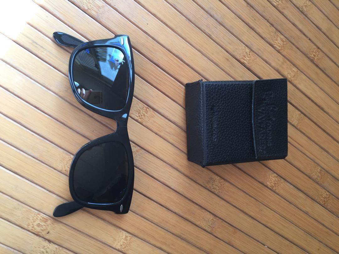 Ray Ban Folding Wayfarer Sunglasses RB 4105 601 50-22 in Black Colour (Unisex)