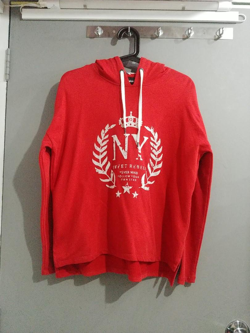Red Hoodie Pullover