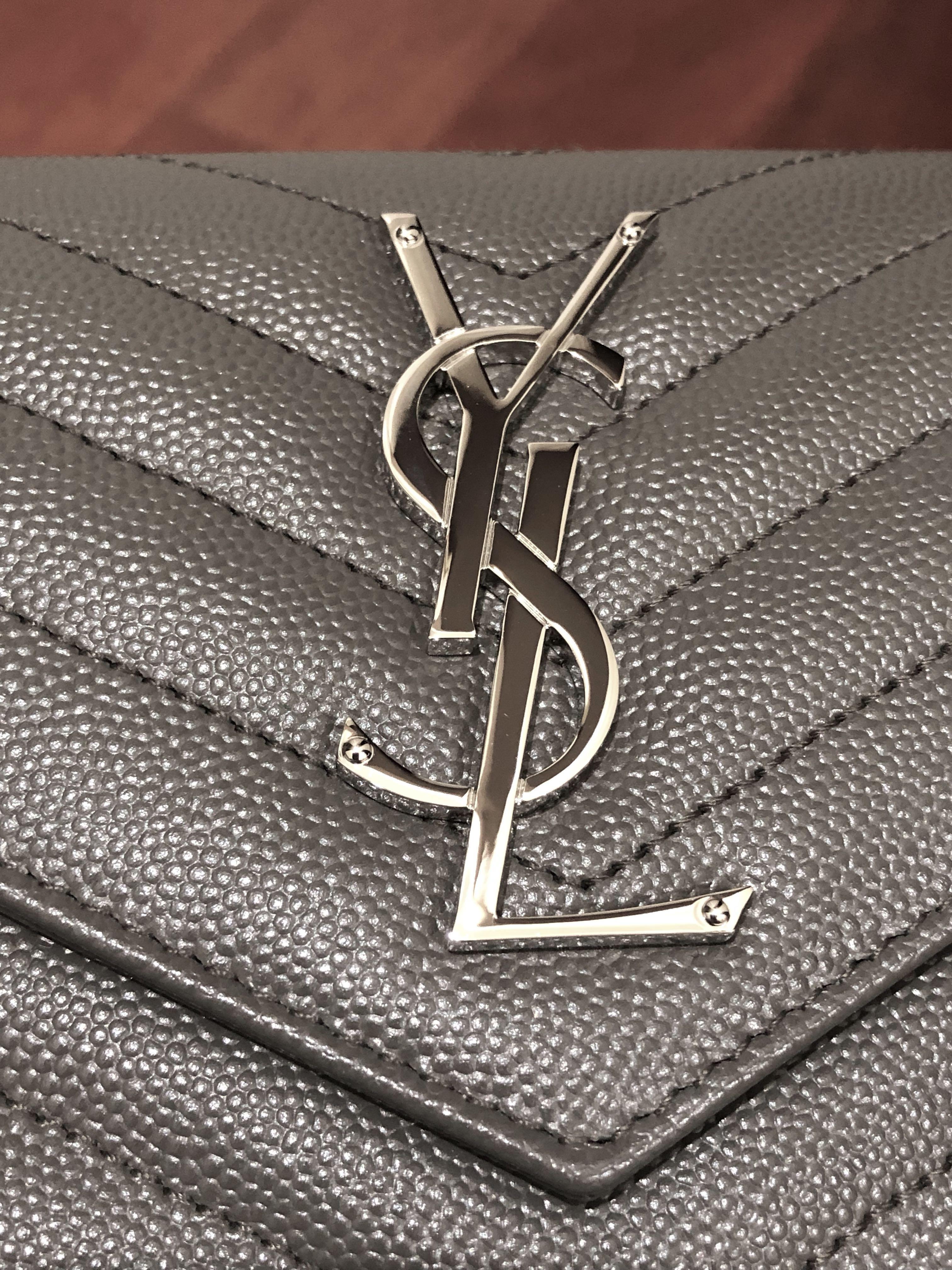 BRAND NEW SAINT LAURENT AUTHENTIC Monogram Large Leather Flap Wallet