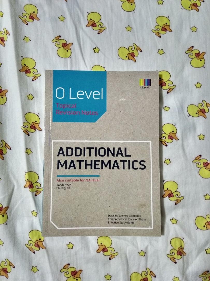 Selling Additional Mathematics guidebook (N/O level)