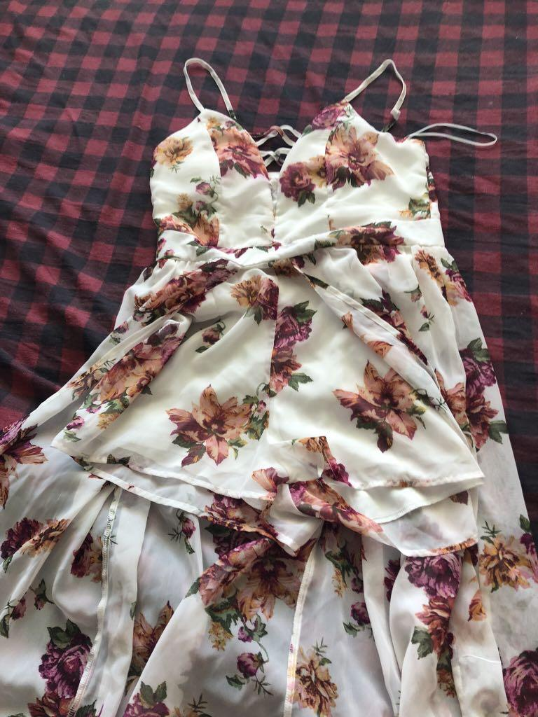 Urban Planet Large summer floral dress with shorts underneath