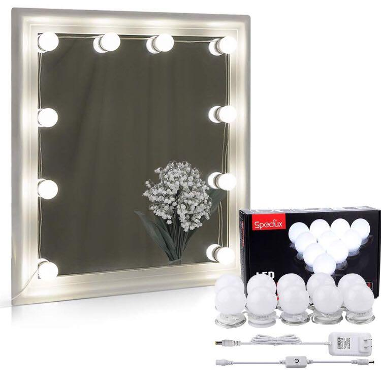 Vanity Mirror Lights Kit Speclux Hollywood Style Led Makeup Light 10 Dimmable Led Light Bulbs 6000k