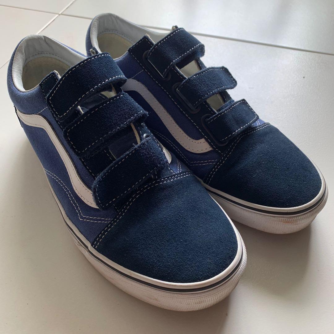 VANS Classic Velcro Blue and White, Men