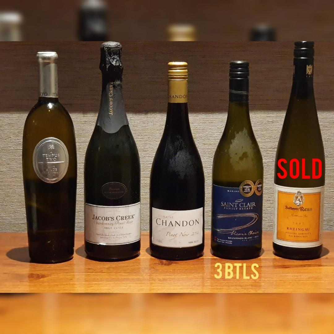White Wine Assortment Food Drinks Beverages On Carousell