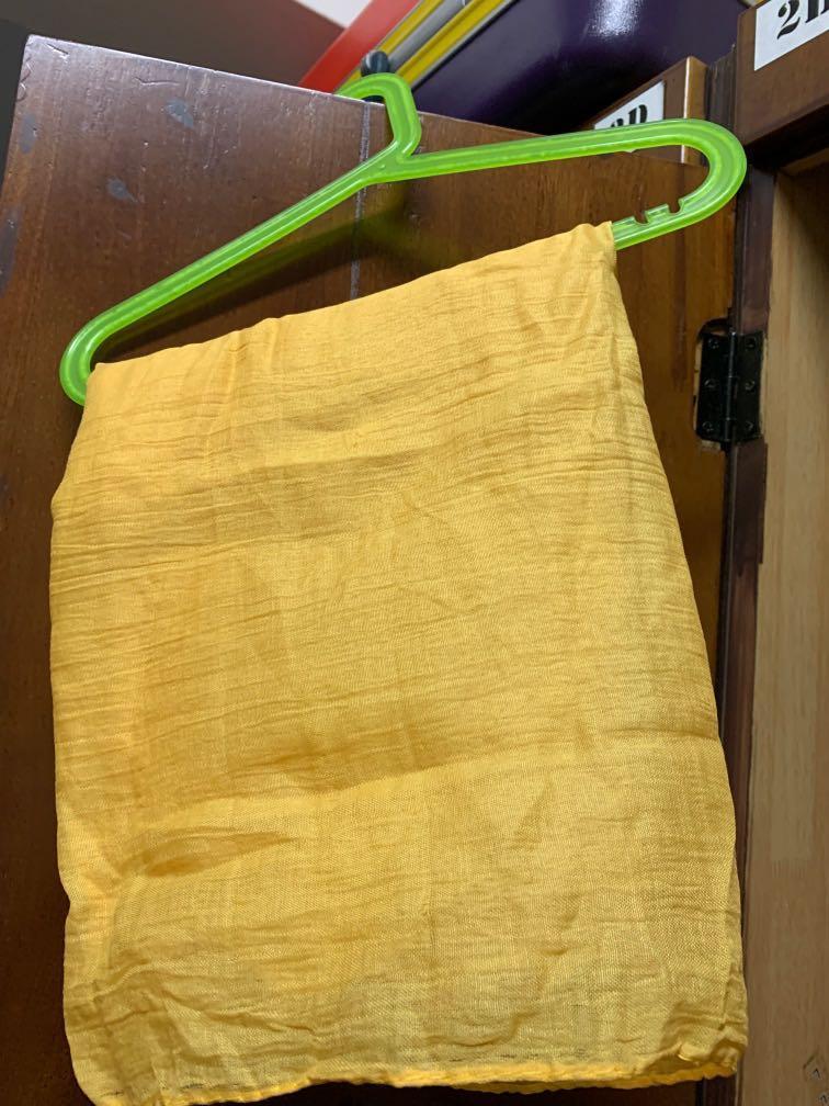 Yellow Shiny Cotton Shawl