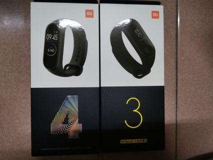 100% Original Mi Band 3 and 4 special promotion clear stock free screen protector and color strap