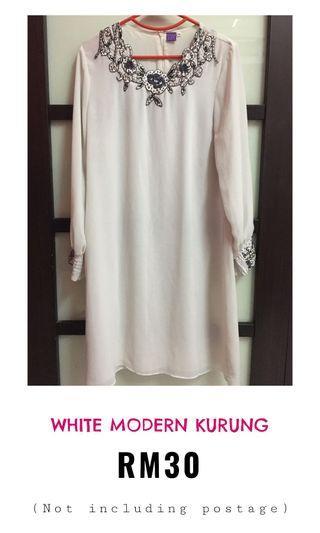 White modern kurung