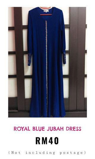 Royal blue jubah dress