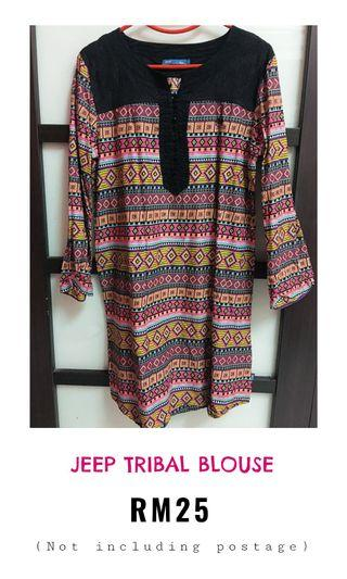 Jeep tribal blouse