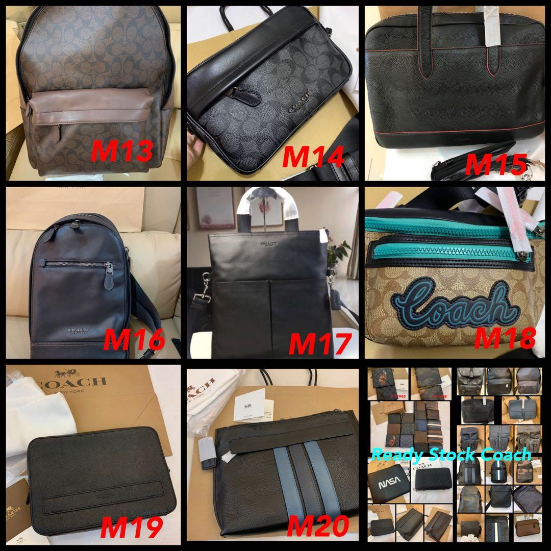 (01/09/19)Authentic Coach men wallet purse backpack money clips belt listing national day sales