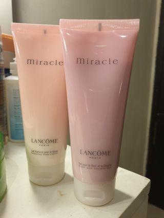 Jual Lancome Body Lotion & Shower Gel Miracle