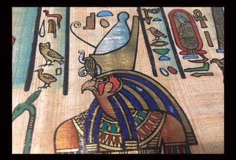 埃及帶回莎草紙畫