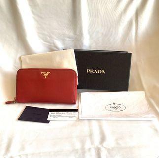 Prada Long Wallet Authentic