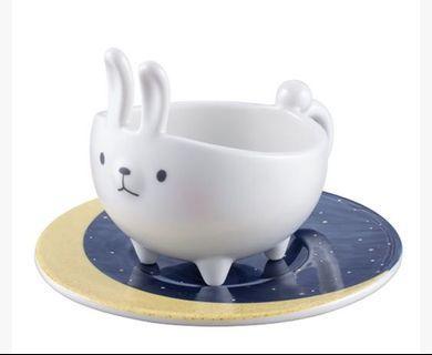 星巴克 Startbucks 玉兔踏月杯盤組