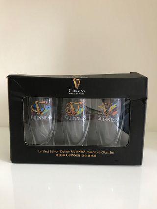 Guiness linited edition miniature glass set