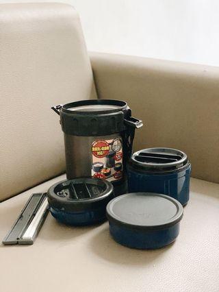 Thermos rantang / kotak makanan isi 3, heat protect
