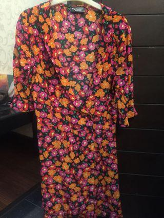 Flower summer dress zara original