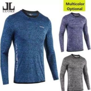 Luoke Professional Men Compression Fitness Long Sleeve PRO Sport Quick Dry Outdoor running Tights Gym Bodybuilding Shirt