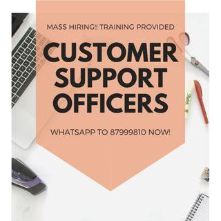 Customer Support Officers @ East (Fresh Welcome! 6 months+)