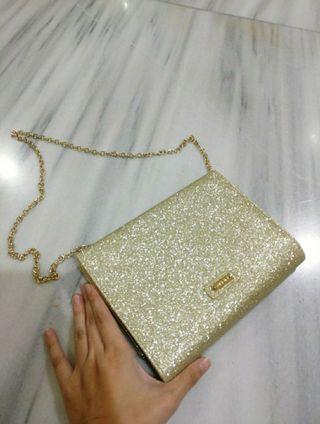 Tas Pesta clutch Gold party mini bag merek ALDO