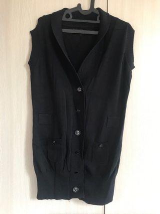 Minimal Black Knit Cardigan