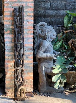 Patung ukir Papua Antik 128 cm