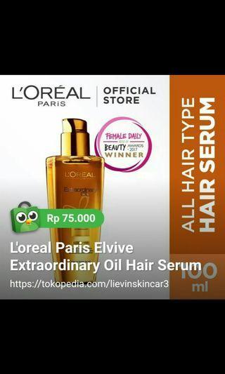 L'oreal Hair Serum Extraordinary Oil