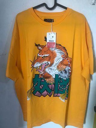 Bershka oversized print tshirt