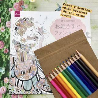 Paket mewarnai colouring book + pensil warna #hbdcarousell #lalamove
