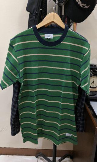 striped tee vintage green combination Quizzy