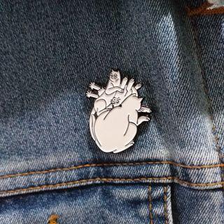 Enamel Pin - i Heart Kitties