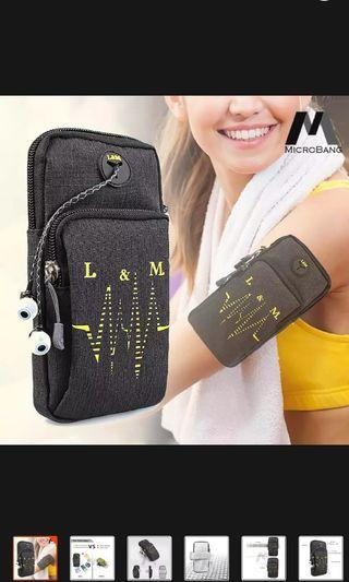 Armband for sports water resistant with multifunctional pockets