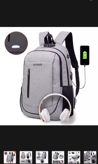 Laptop backpack water resistant anti theft fashion