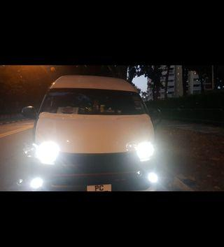 Customised Led or Brightest CSP 3570 Led Bulb on Toyota Hiace Euro 5 H4 Headlight not hid