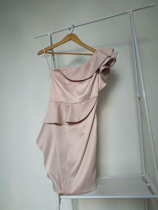 KAREN MILLEN soft pink dress