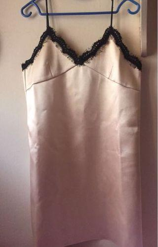 Gold Satin Leather Dress