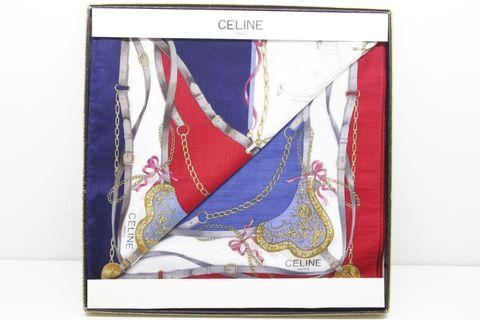 Celine Handkerchief 2 Pcs Set 100% Cotton Made In Japan Gift Box