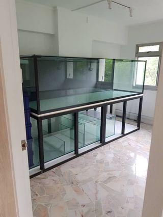 Tank Builders! Get your dream custom size mega tanks right in you hdb apartments! We can custom any size tanks of your choice (with 5 years warranty)