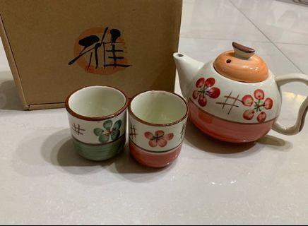 雅 陶瓷杯+陶瓷壺