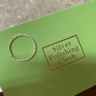 全新925純銀戒指 簡約風 1.3mm刻面閃光戒指