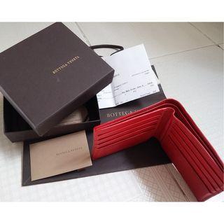 Bottega mens wallet. Super RARE red coloured stingray skin