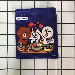 ❤️7-11 LINE FRIENDS 束口袋 小物袋 實用 熊大 兔兔 饅頭人 可愛
